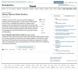 Money Tips for Globe-Trotters
