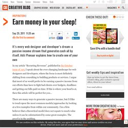 Earn money in your sleep!