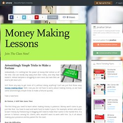 Money Making Lessons