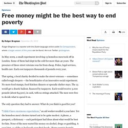 Free money might be the best way to end poverty