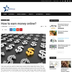 How Many ways to earn money online - Chronicle Reviews