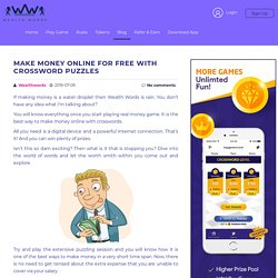 Make Money Online For Free with Crossword Puzzles