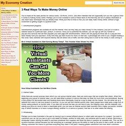 3 Real Ways To Make Money Online - My Economy Creation
