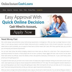 Need Money Fast - Online Instant Cash Loans
