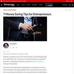 7 Money Saving Tips for Entrepreneurs