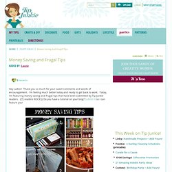 Money Saving and Frugal Tips