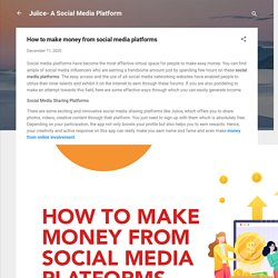 How to make money from social media platforms