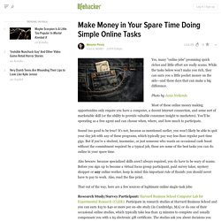 Make Money in Your Spare Time Doing Simple Online Tasks