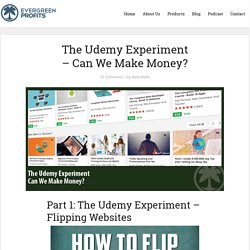 Make Money On Udemy - My Little Experiment