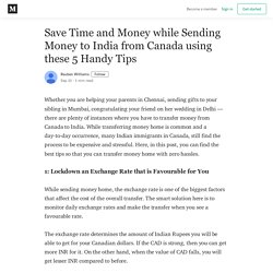 Save Time and Money while Sending Money to India from Canada using these 5 Handy Tips