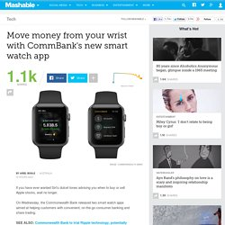 Move money from your wrist with CommBank's new smart watch app