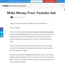 Make Money From Youtube Ads