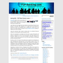 Money360 – P2P Real Estate Loans