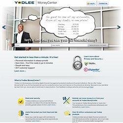 Yodlee MoneyCenter - Registration