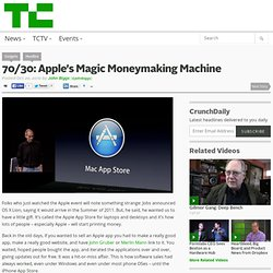 70/30: Apple's Magic Moneymaking Machine