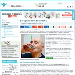 Boire: pour éviter la déshydratation