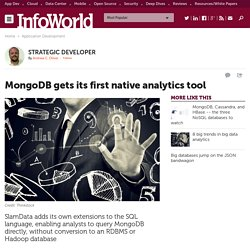 MongoDB gets its first native analytics tool