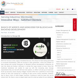 Basics of NodeJS and MongoDB for Blockchain backend development