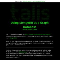 Using MongoDB as a Graph Database - engineering.talis.com