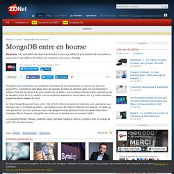 MongoDB entre en bourse