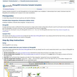 MongoDB Instaview Sample template - Pentaho Big Data -Pentaho Wiki