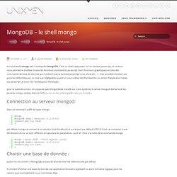 MongoDB – le shell mongo