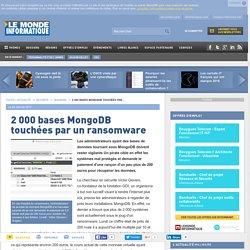 2 000 bases MongoDB touchées par un ransomware