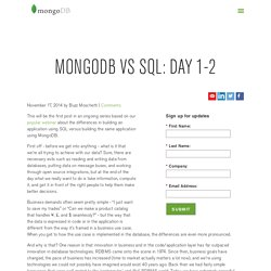 vs SQL: Day 1-2
