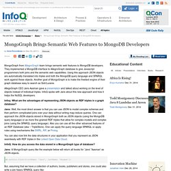 MongoGraph Brings Semantic Web Features to MongoDB Developers