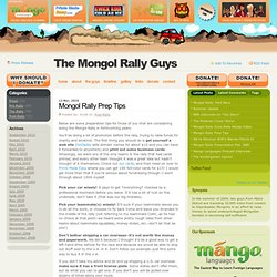 Mongol Rally Prep Tips