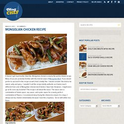 Mongolian Chicken Recipe