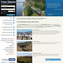 Trans Mongolian train tickets at discount prices. Free Schedules and Timetables.