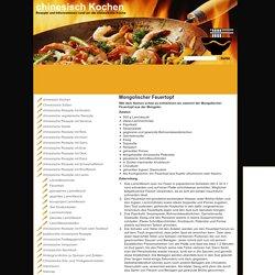 Mongolischer Feuertopf - chinesisch Kochen und chinesische Rezepte aus China