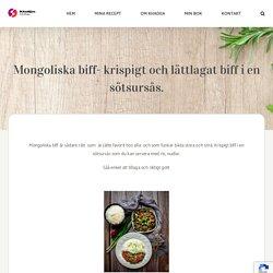 Mongoliska biff- krispigt och lättlagat biff i en sötsursås. – Khadijas Kitchen