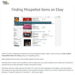 Finding Misspelled Items on Ebay