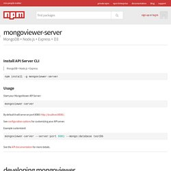 mongoviewer-server