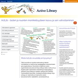 ActLib - lasten ja nuorten monikielisyyteen kasvu ja sen vahvistaminen
