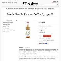 Monin Vanilla Flavour Coffee Syrup - 1L