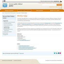 Moniteur belge - Service Public Fédéral Justice