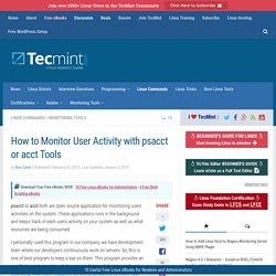 How to Monitor User Activity with psacct or acct Tools