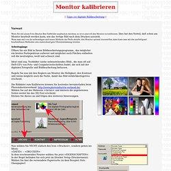 Monitor klibrieren