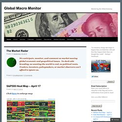 Global Macro Monitor | Monitoring the Global Economy