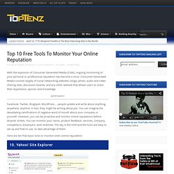 Top 10 Free Tools To Monitor Your Online Reputation