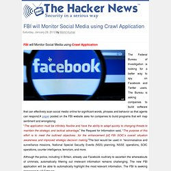FBI will Monitor Social Media using Crawl Application