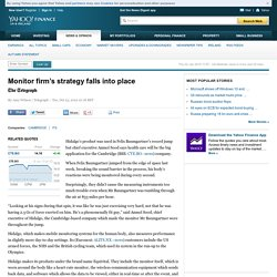 Monitor firm's strategy falls into place