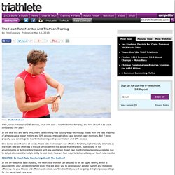 The Heart Rate Monitor And Triathlon Training