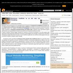 Monitorare modifiche su un sito web con Visualping