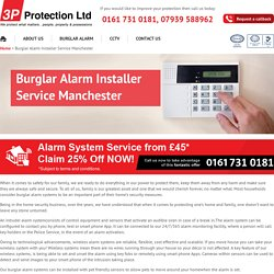 Monitored Intruder & Burglar Alarm Systems Fitters, Installation