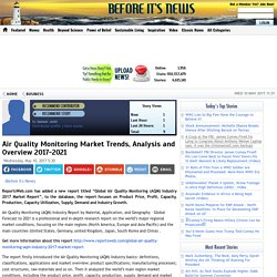 Air Quality Monitoring Market Trends, Analysis and Overview 2017-2021