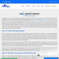 Imo Monitoring Application